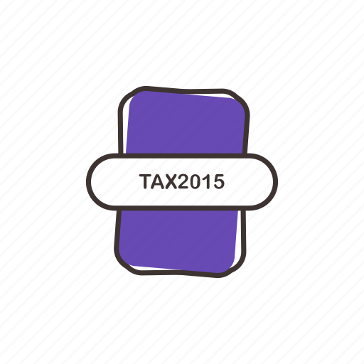 tax file, tax format icon, tax2015 icon