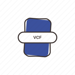 excel, extension, file, vcf icon