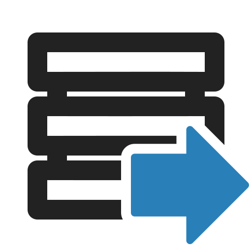 data, database, download, export, storage, upload icon