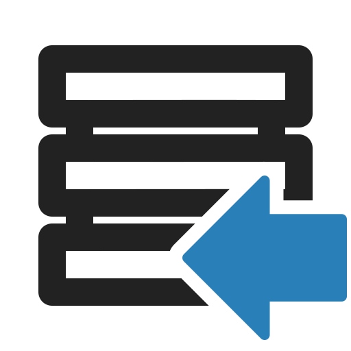 access, database, disk, import, server, storage icon