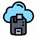 b46, cloud, microchip, sd, server icon