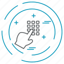 data, dial, pad, technology, privacy icon