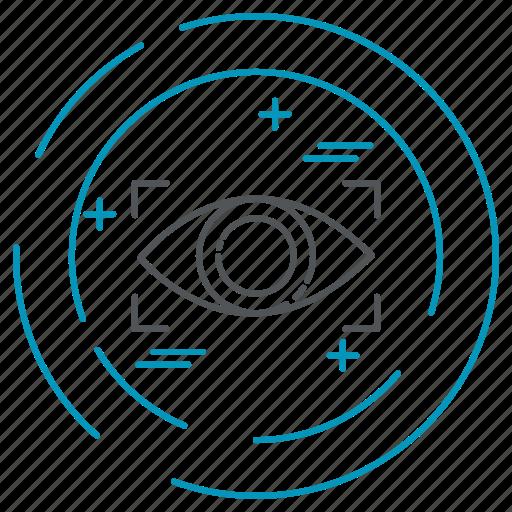 data, eye, privacy, scanner, technology icon
