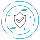 data, protected, technology, privacy icon
