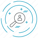 data, search, technology, privacy icon