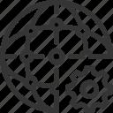 cogwheel, edit, modify, network, nodes, processing, settings icon