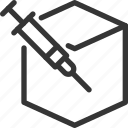 analysis, antivirus, box, data, injection, malware, security icon