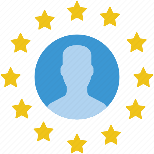 data, euro, gdpr, profile, protect, protection, security icon