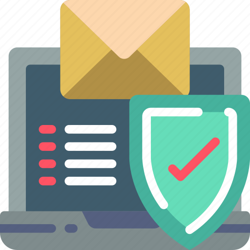 data, email, laptop, protect, protected, protection, security icon