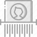 data, protect, protection, security, shredding icon