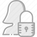 data, femail, profile, protect, protection, secure, security icon