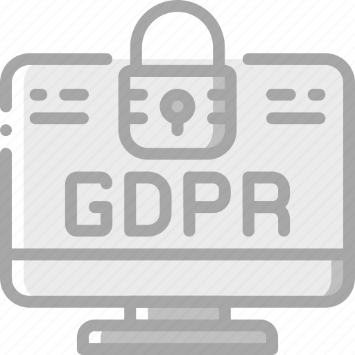 data, desktop, gdpr, protect, protection, security icon