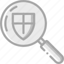 data, protect, protection, safe, search, security icon