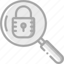 data, protect, protection, search, secure, security icon