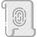 data, file, fingerprint, protect, protection, secure, security icon
