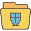 data, folder, info, protect, protected, protection, security icon