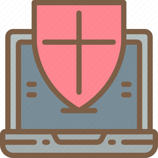 data, laptop, protect, protected, protection, security icon