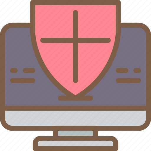 data, desktop, protect, protected, protection, security icon