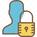 data, male, profile, protect, protection, secure, security icon