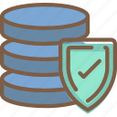 data, database, protect, protection, secure, security icon