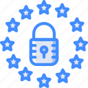 data, euro, gdpr, protect, protection, secure, security icon
