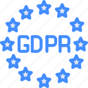 data, euro, gdpr, protect, protection, security icon