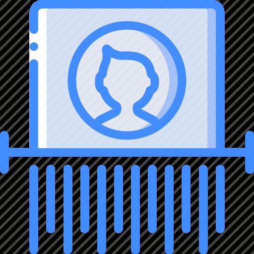 data, protect, protection, security, shredding icon