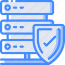 data, protect, protected, protection, security, server icon