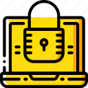 data, laptop, protect, protection, secure, security icon