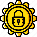 data, protect, protection, security, settings icon