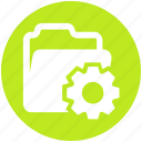 cogwheel, data, folder, gear, options, setting icon