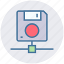 data, database, disk, drive, floppy, save, storage icon