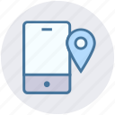 cell phone, data science, location, mobile, phone, smartphone icon