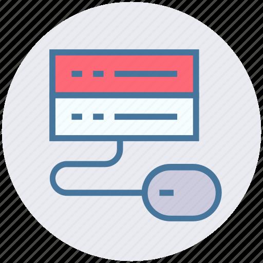 database, mainframe, mouse, network sharing, server rack icon