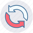 arrows, loading arrows, processing, reload, sync, update icon