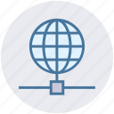 earth, globe, network, science, world icon