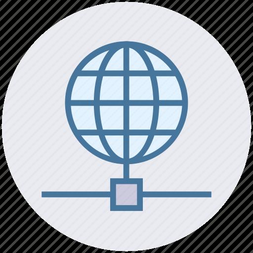 earth, globe, network, science, world icon
