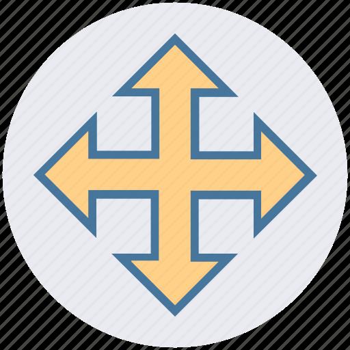 arrows, expand arrows, full screen, maximize, web arrows icon