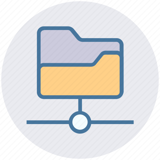 connection, data science, folder, network, share, shared icon