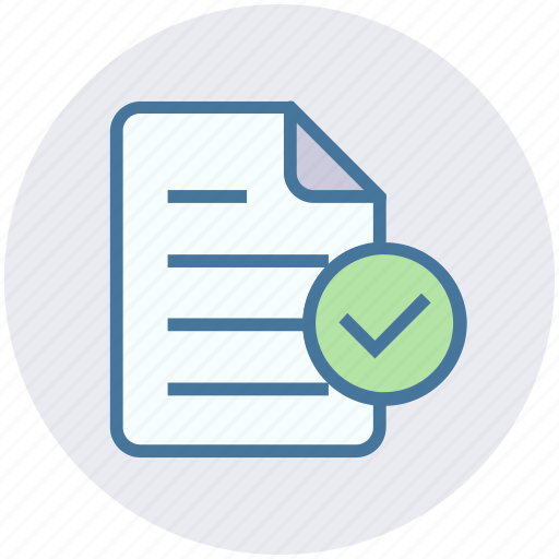 accept, document, file, list, page, paper, sheet icon