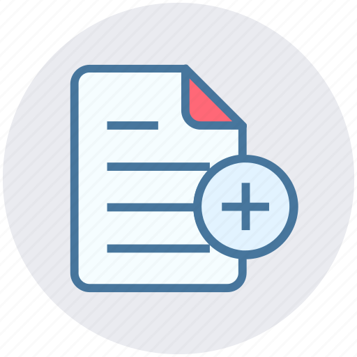 Add, document, file, list, page, paper, sheet icon - Download on Iconfinder