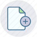 add, document, file, list, page, paper, sheet icon