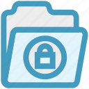data, folder, lock, locked, private, security, storage icon