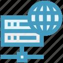 data science, database, global, server, storage, world icon