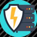 backup, database, power, secured, security, server, shield