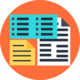 chaos, data, file, information, sheet, structure, unstructured icon