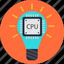 bulb, cpu, data, idea, processing