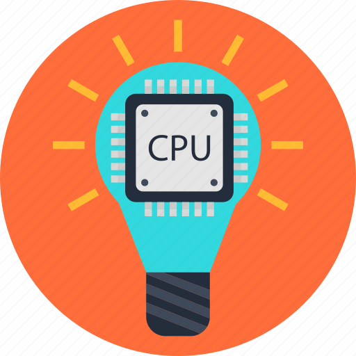 bulb, cpu, data, idea, processing icon