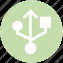 connection, port, sign, usb sign, usb symbol