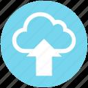 arrow, cloud, cloud computing, data, science, up, upload icon